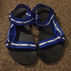 Blue VSPink sandals